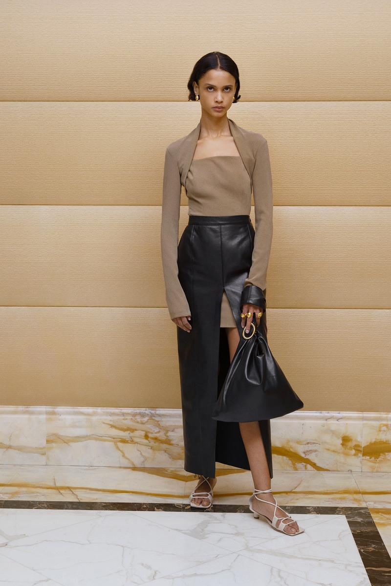 Nanushka Fall/Winter Collection Lookbook Leather Skirt