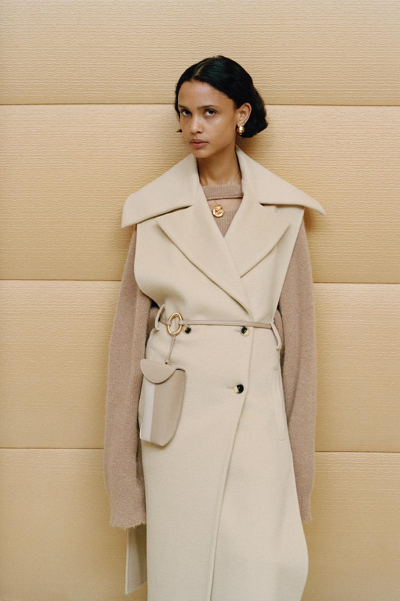 Nanushka Fall/Winter Collection Lookbook Trench Coat Vest White