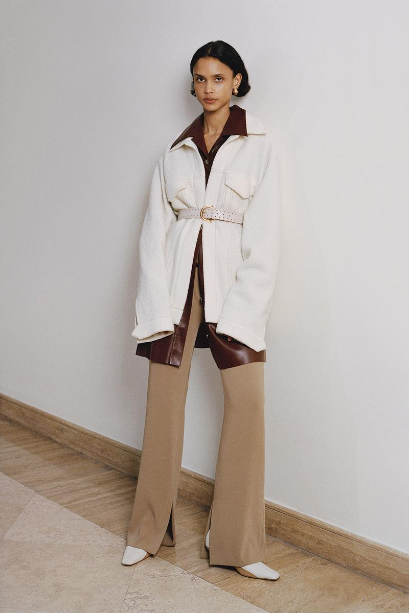 Nanushka Fall/Winter Collection Lookbook Blazer White Knit Pants