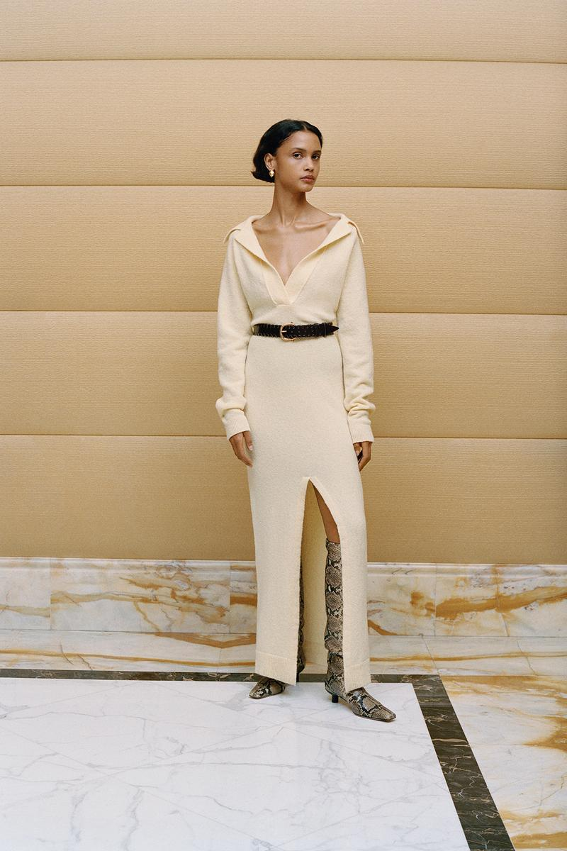 Nanushka Fall/Winter Collection Lookbook Knit Dress Maxi Slit