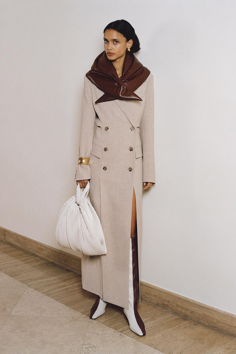 Nanushka Fall/Winter Collection Lookbook Coat Beige