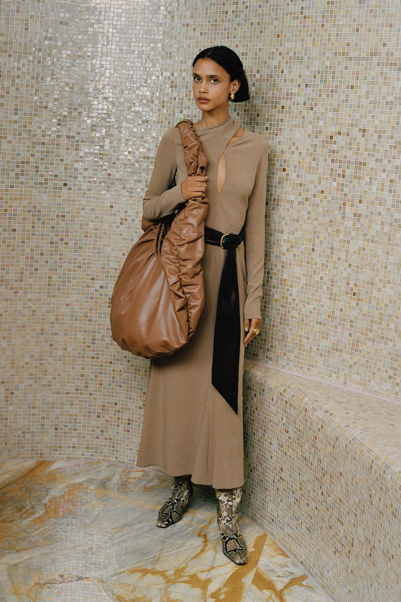 Nanushka Fall/Winter Collection Lookbook Knit Dress Cut Out Brown