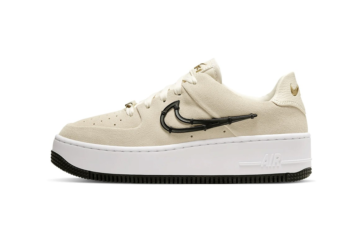 Nike Air Force 1 Sage Low In Cream White Gold Hypebae