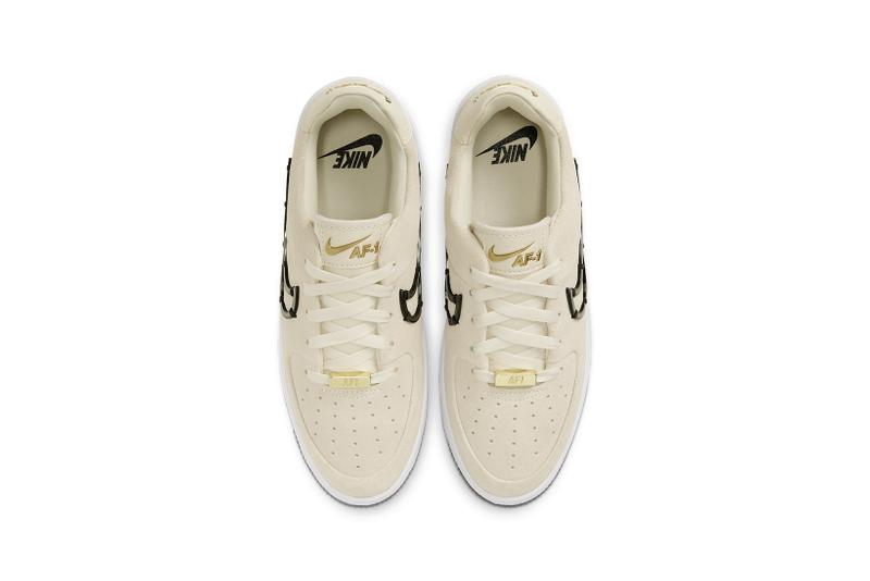 nike air force 1 sage low lx womens sneakers cream white metallic gold black shoes footwear sneakerhead