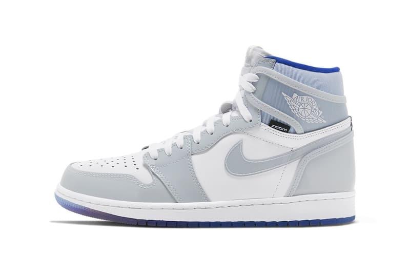 nike air jordan 1 hi zoom sneakers white baby blue grey shoes footwear sneakerhead