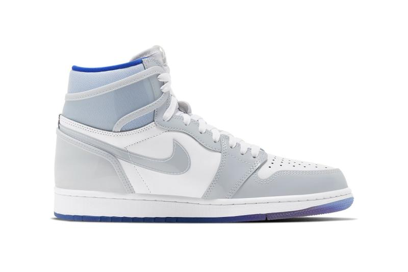 nike air jordan 1 hi zoom sneakers white baby blue grey shoes footwear sneakerhead