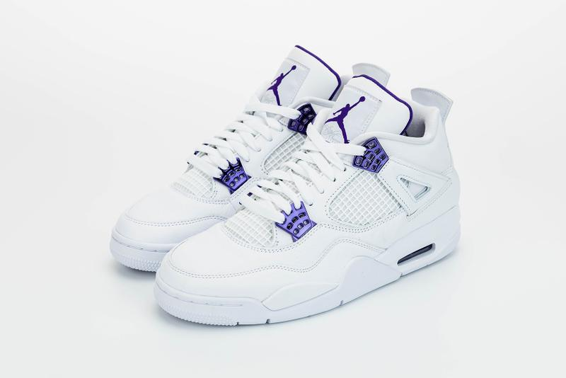 nike air jordan 4 sneakers white purple shoes footwear sneakerhead