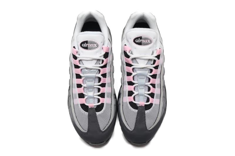 "Nike Air Max 95 ""Gunsmoke/Pink Foam"" Release"