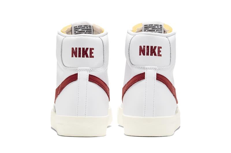 Nike Blazer Mid 77 Vintage Sneakers Light Bone Worn Brick Retro