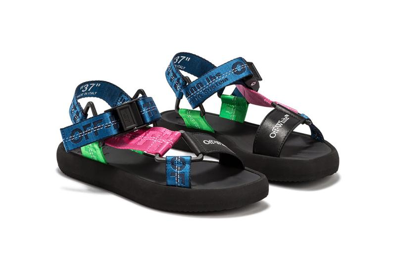 Off-White Micro Trek Sandals Navy Pink