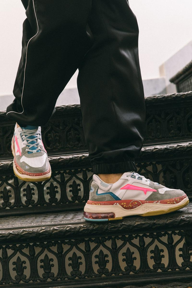 premiata italian luxury sneaker brand debuts spring/summer 2020 sizey collection sharky drake