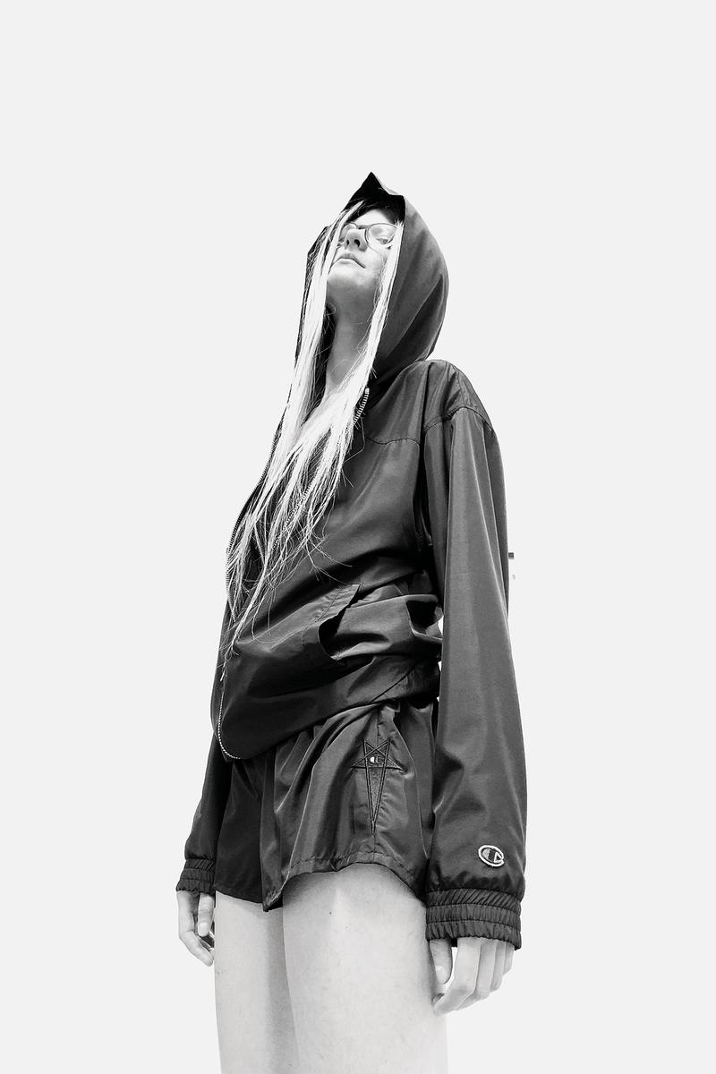 Rick Owens x Champion Collaboration Collection Campaign Jacket Shorts