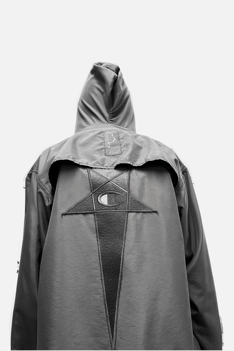 Rick Owens x Champion Collaboration Collection Campaign Coat