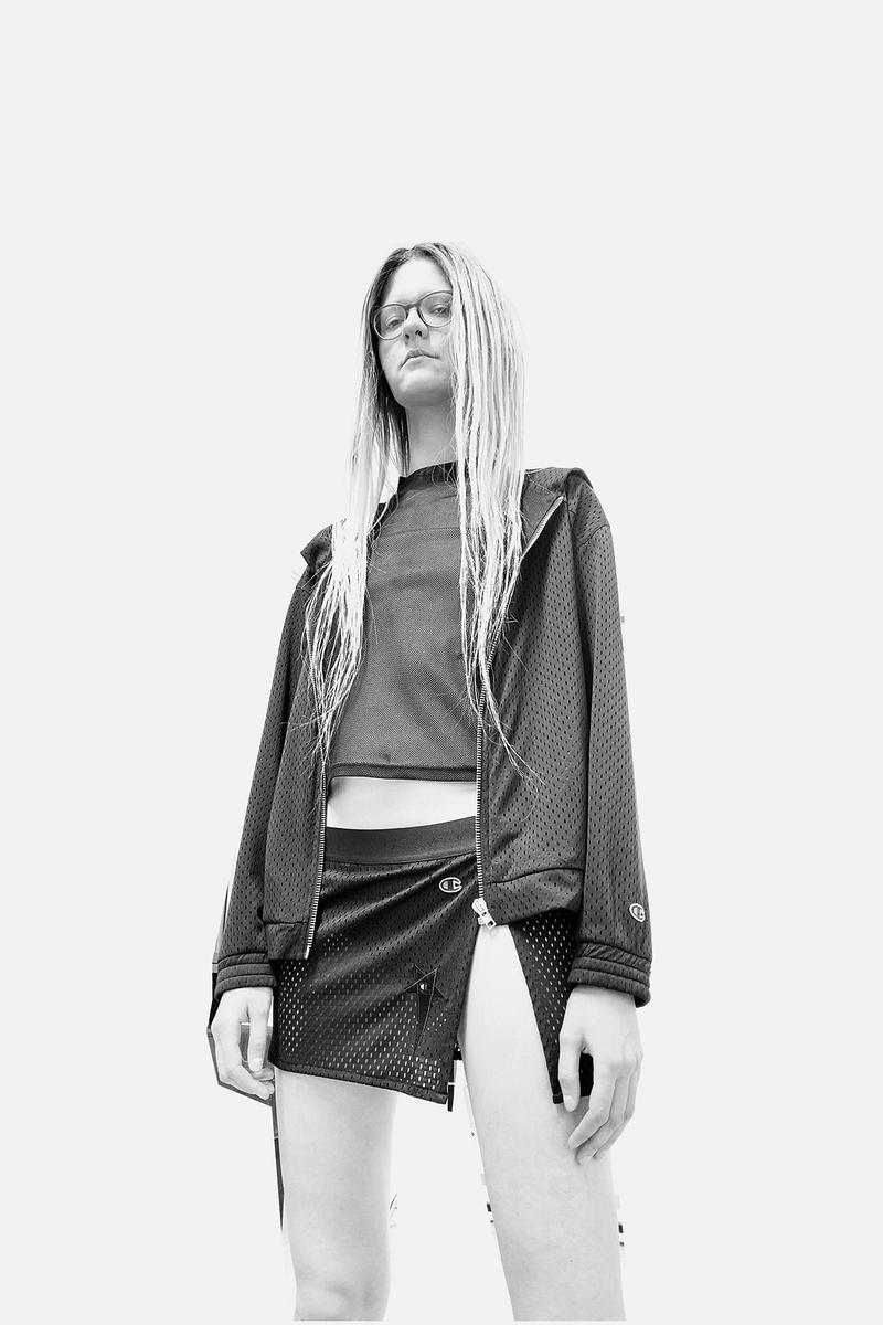 Rick Owens x Champion Collaboration Collection Campaign Skirt T-Shirt Hoodie
