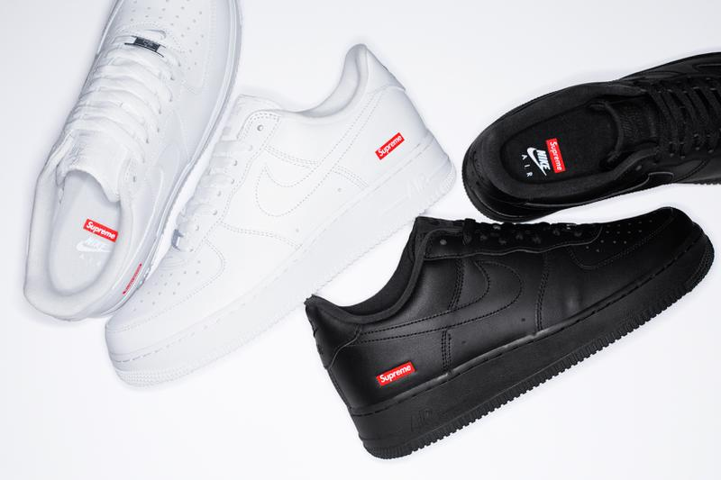 supreme nike air force 1 low sneakers white black red shoes footwear sneakerhead