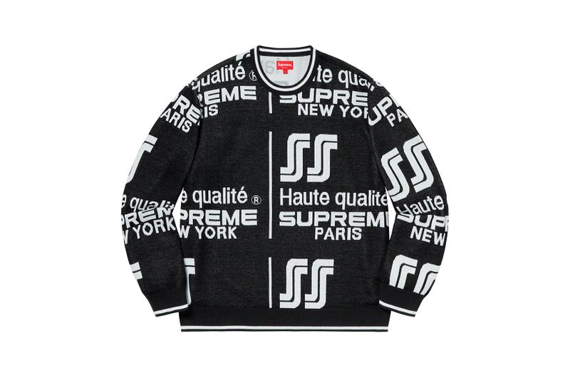 Supreme Spring Summer Week 3 Drop Knit Sweater Black