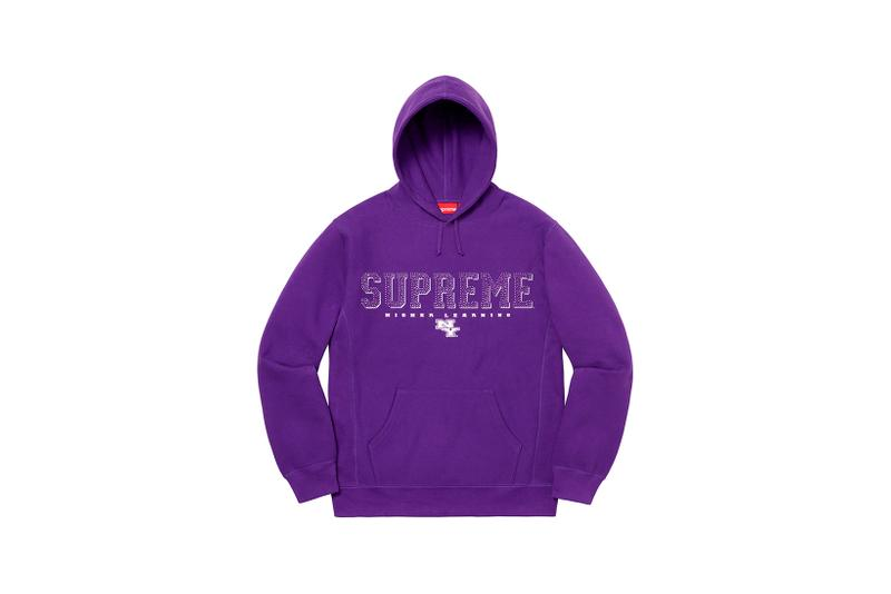 Supreme Spring Summer Week 3 Drop Logo Hoodie Purple
