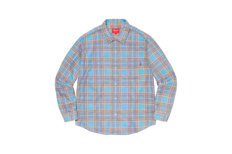 Supreme Spring Summer Week 3 Drop Plaid Shirt Blue