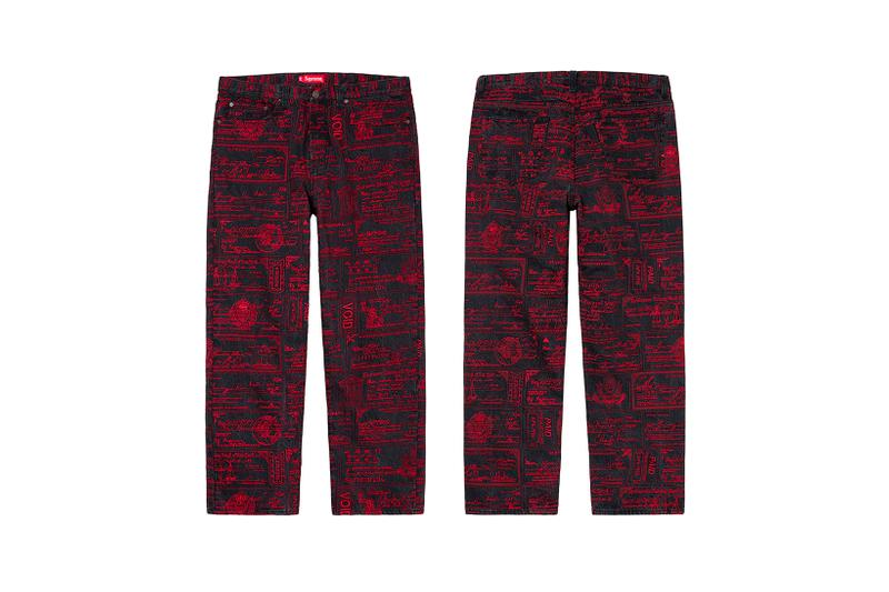 Supreme Spring Summer Week 3 Drop Pants Check Print Red
