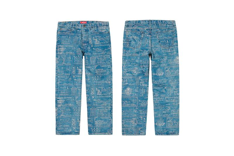 Supreme Spring Summer Week 3 Drop Pants Check Print Blue