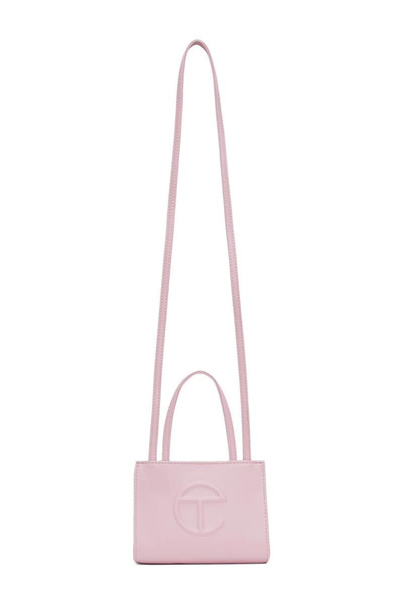 Shop Telfar Logo Bag Pastel Pink Blue Accessory