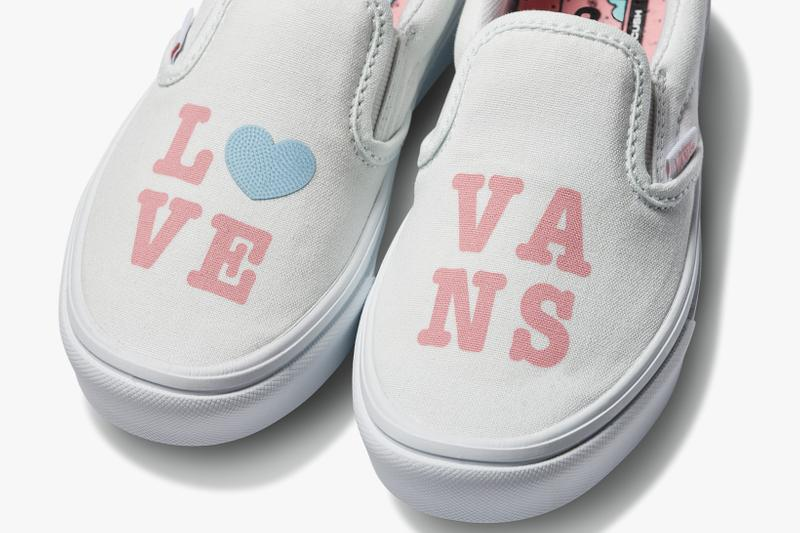 vans comfycush old new skool slip on sneakers autism awareness sensory inclusive charity donation checkered print hearts navy blue white