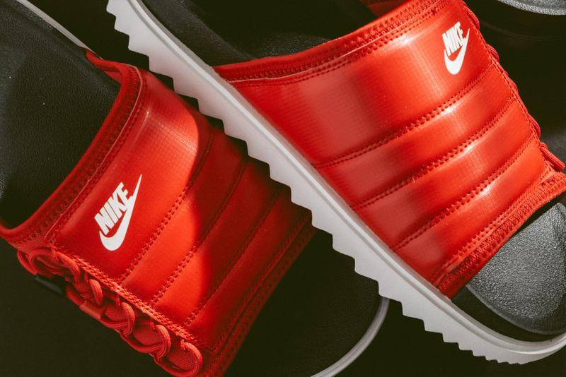 Nike City Slide NA Black Red Sandals Slippers Footwear