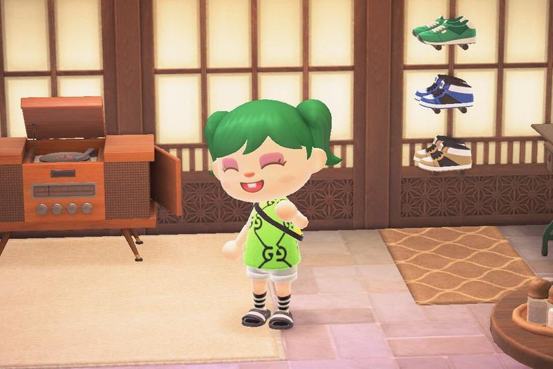 Animal Crossing New Horizons ACNH Hairstyle Guide Billie Eilish Green Gucci Nintendo Switch Video Games