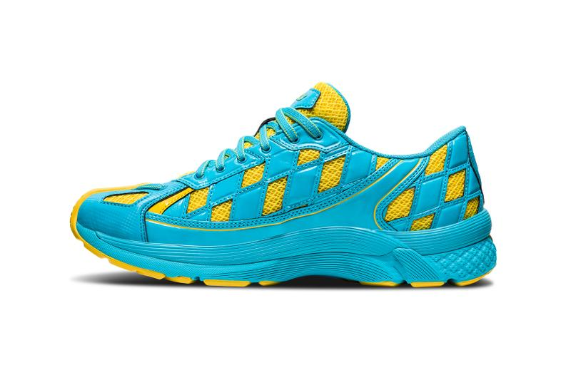 asics kiko kostadinov collaboration gel kiril blue yellow sneakers shoes footwear sneakerhead
