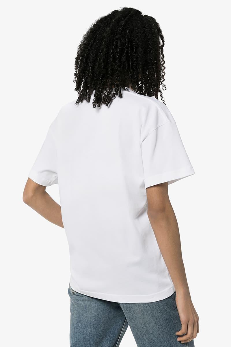 balenciaga top model organic cotton t shirt white fashion