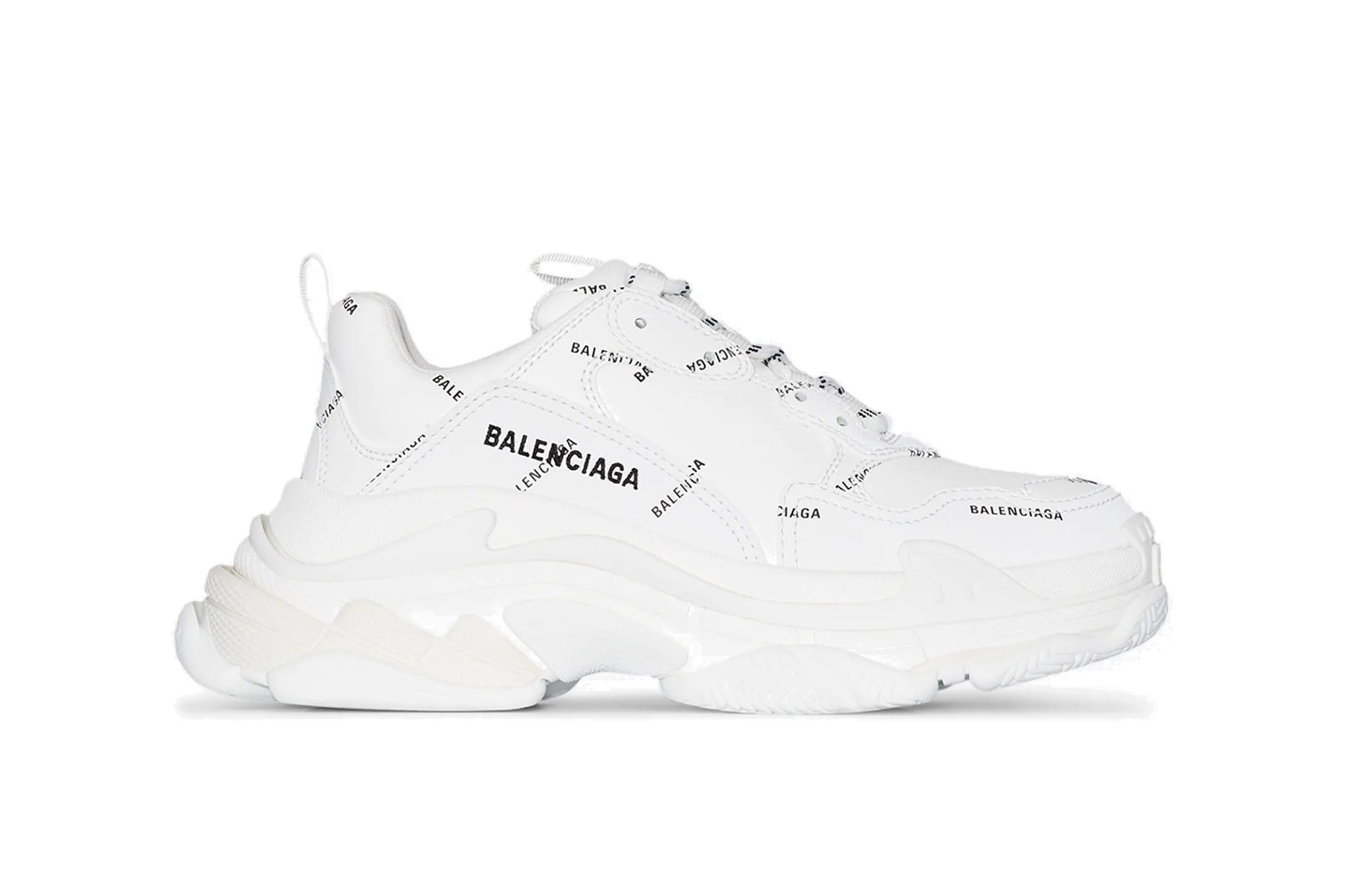 Balenciaga Balenciaga Triple S Black red white 2019 Grailed