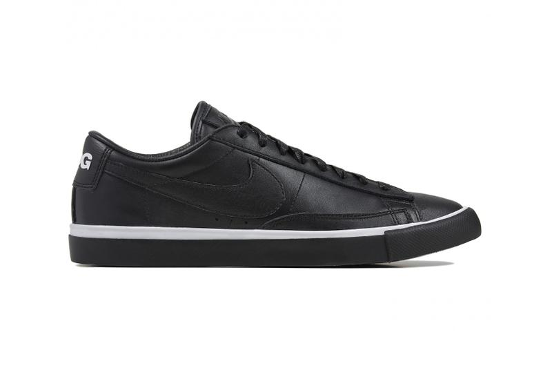nike black comme des garcons cdg blazer high low waffle racer footscape sneakers collaborations dover street market
