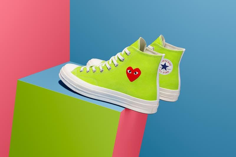 COMME des GARÇONS PLAY x Converse Chuck 70 Green Sneaker Red Heart