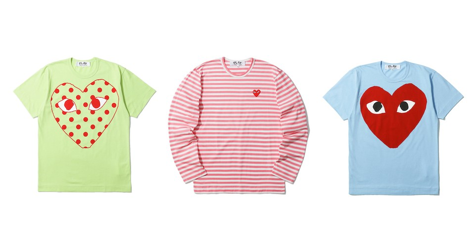 COMME des GARÇONS PLAY Adds Colorful Classics for Spring
