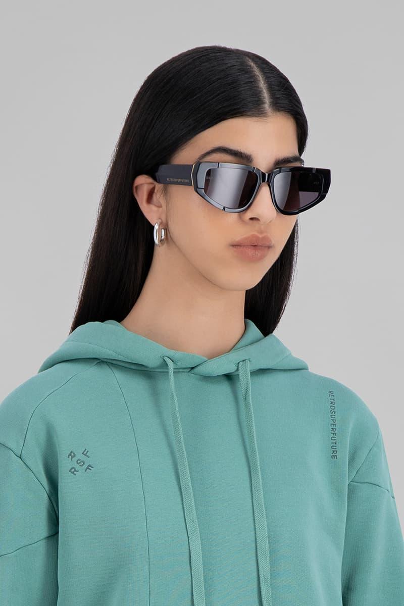 danielle cathari retrosuperfuture collaboration eyewear sunglasses shades blue black orange accessories