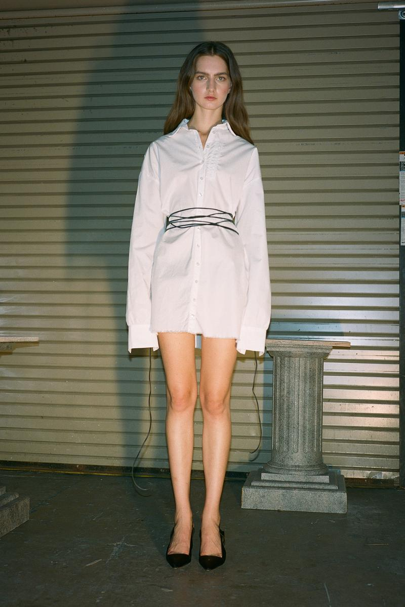 Danielle Guizio Spring/Summer 2020 Collection Lookbook White Button Down