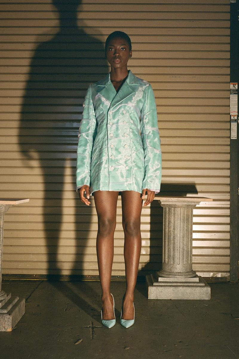 Danielle Guizio Spring/Summer 2020 Collection Lookbook Blazer Green Mesh