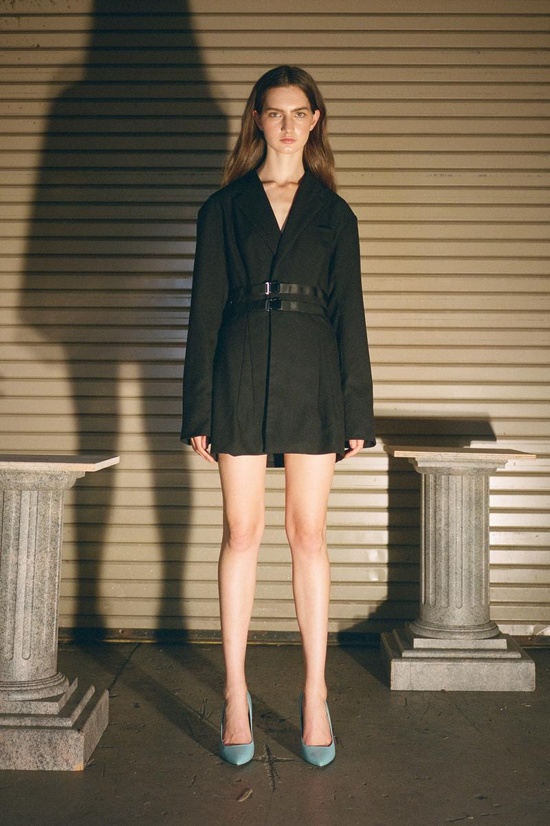 Danielle Guizio Spring/Summer 2020 Collection Lookbook Belted Blazer Black