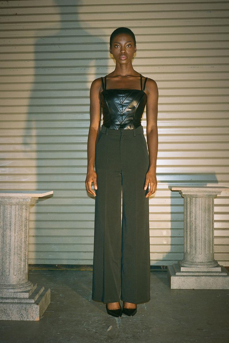Danielle Guizio Spring/Summer 2020 Collection Lookbook Leather Corset Pants