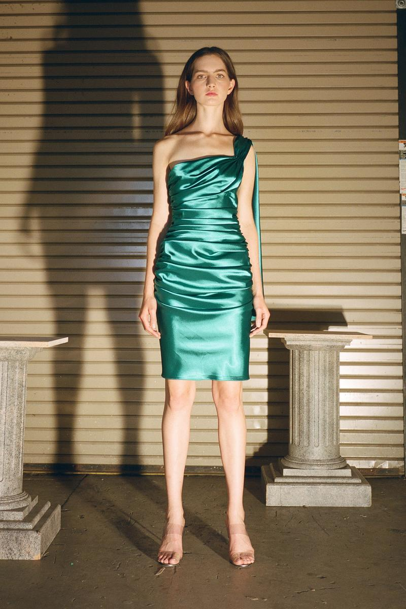 Danielle Guizio Spring/Summer 2020 Collection Lookbook Ruched Mini Dress