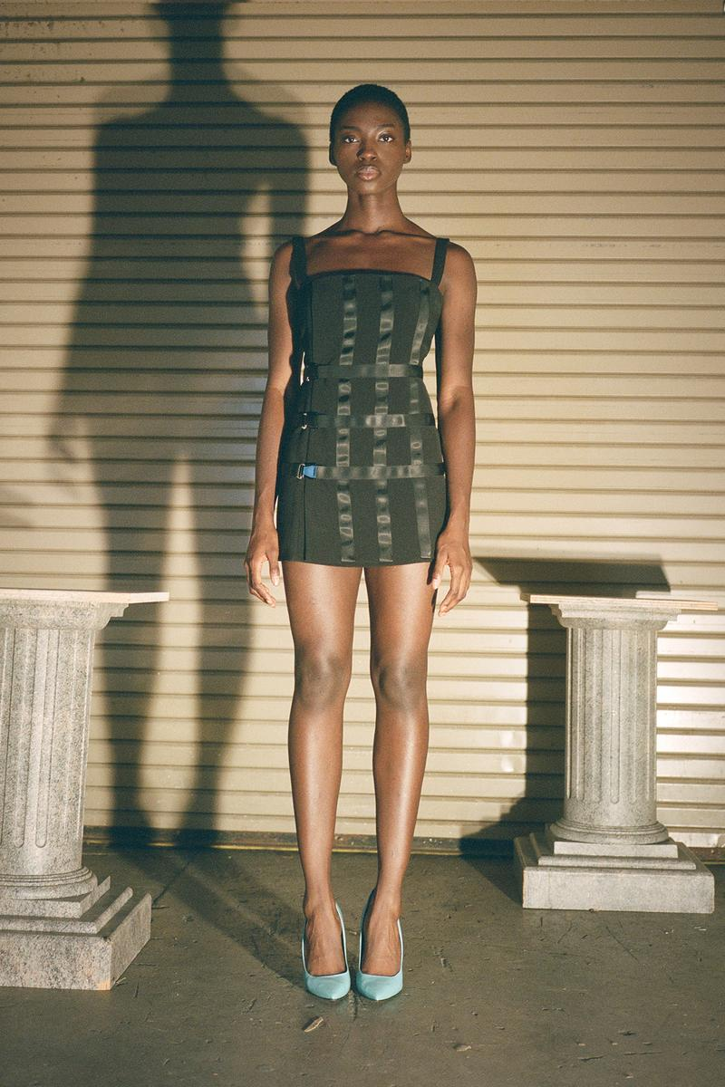 Danielle Guizio Spring/Summer 2020 Collection Lookbook Bondage Mini Dress Black