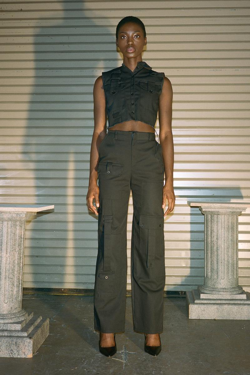 Danielle Guizio Spring/Summer 2020 Collection Lookbook Denim Top Pants