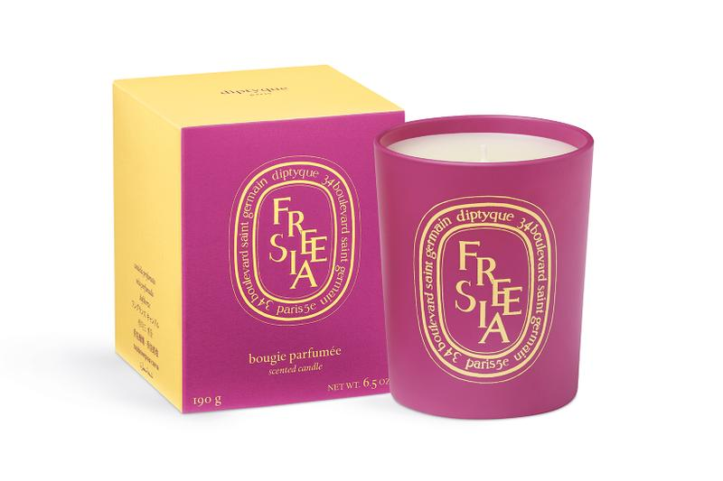 diptyque coloring spring limited edition candle collection mothers day geranium freesia