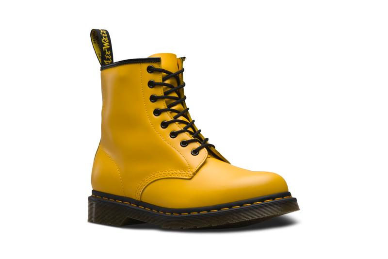 Dr. Martens Spring/Summer 1460 Boot Pink Yellow White Orange Vibrant Pastel Boots Shoes Footwear