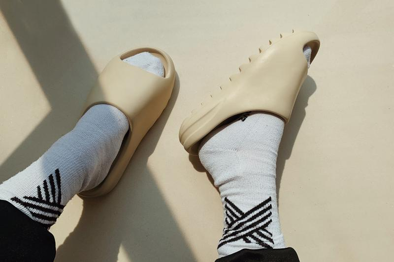 YEEZY SLIDE adidas Originals Bone Sandals Slippers On Foot Sizing Reviews Where to Buy Kanye West