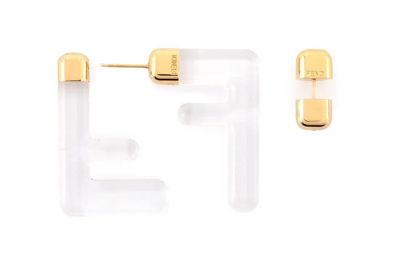 Fendi FF Earrings Logo Zucca Print Spring/Summer 2020 Clear