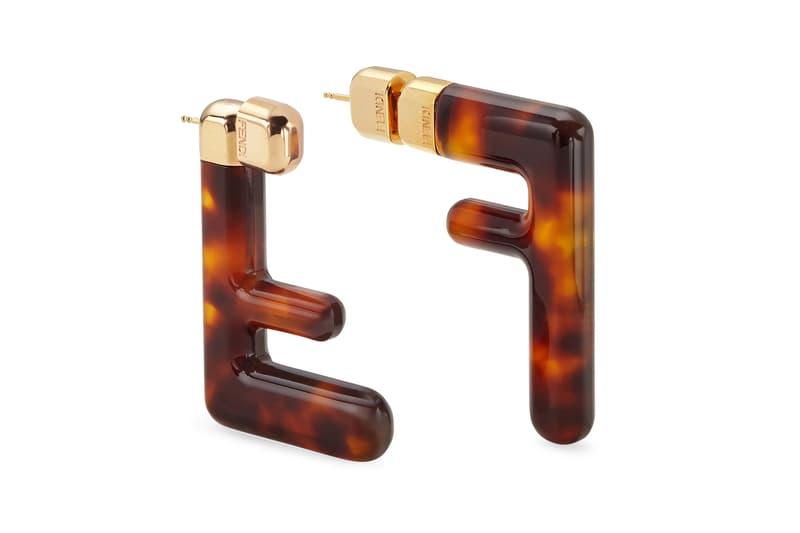 Fendi FF Earrings Logo Zucca Print Spring/Summer 2020 Tortoiseshell