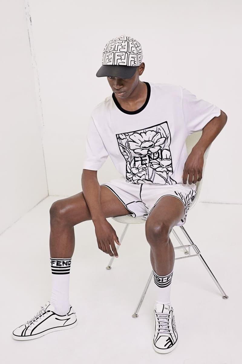 Fendi Joshua Vides artist collaboration bags jackets shirts sneakers blazers hats socks accessories