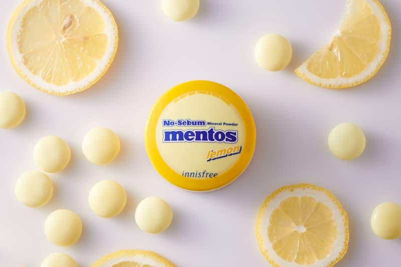innisfree Mentos No Sebum Mineral Powder K-beauty Collaborations Fruits Grape Cherry Melon Mint Peach Lemon