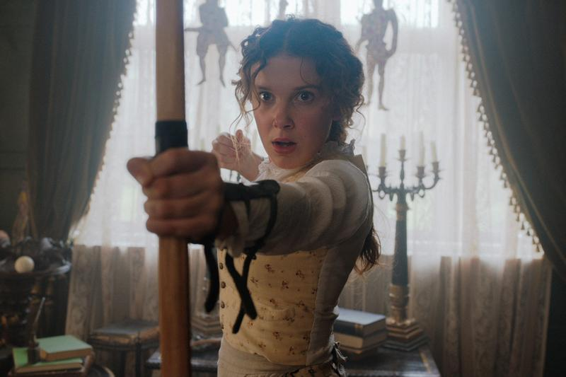 Millie Bobby Brown Enola Holmes Movie Character Still